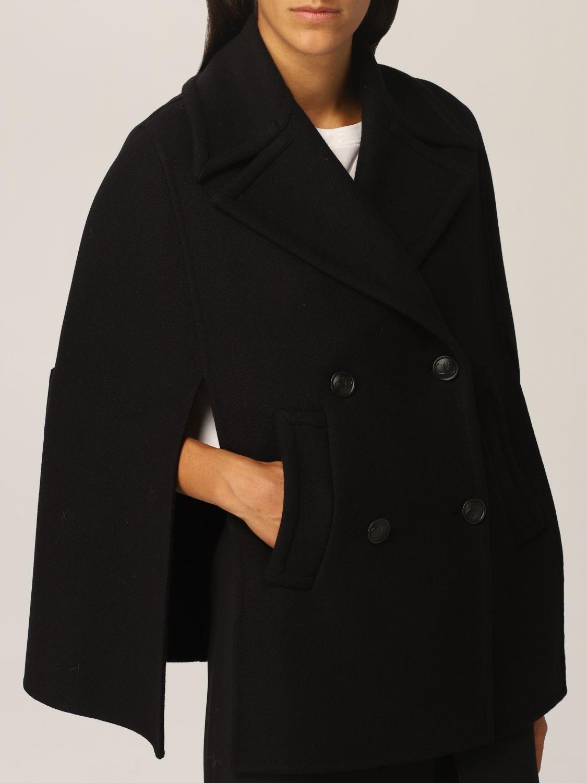 Mantella Valentino: Cappa Valentino in misto lana nero 5
