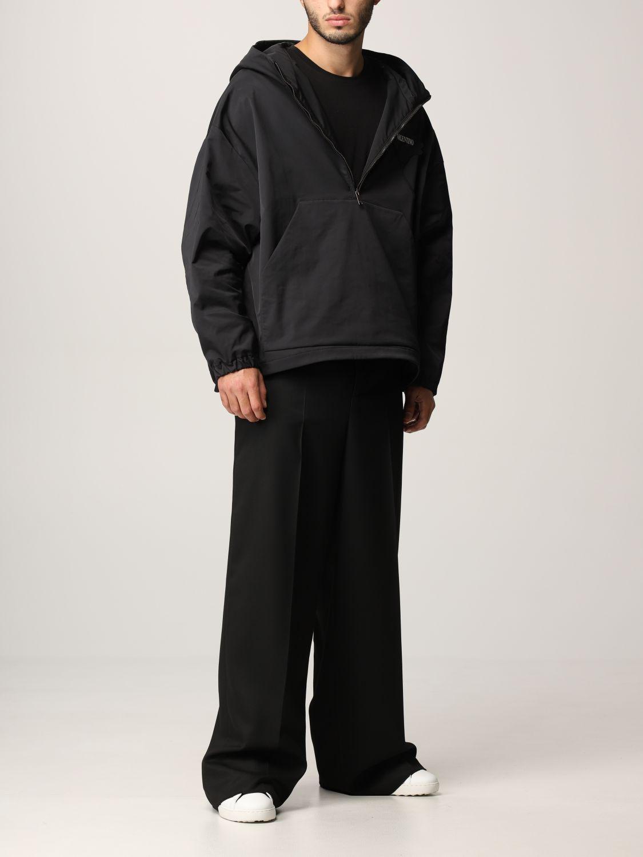 Pantalone Valentino: Pantalone Valentino in lana vergine e seta nero 2