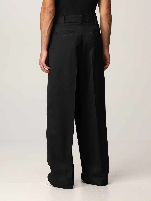 Pantalone Valentino: Pantalone Valentino in lana vergine e seta nero 3