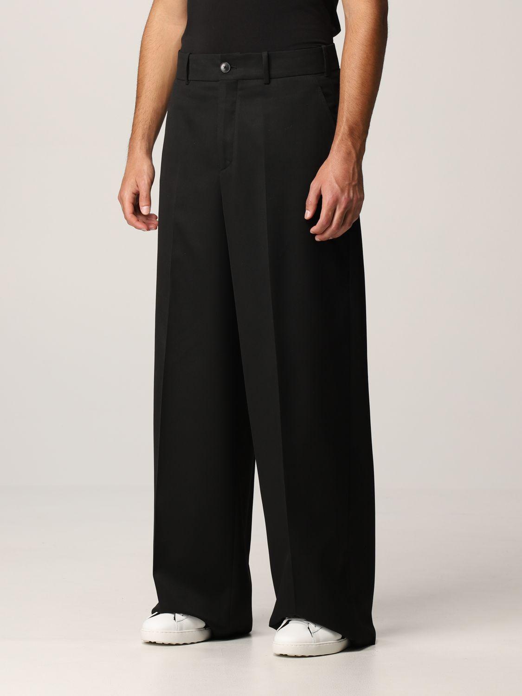 Pantalone Valentino: Pantalone Valentino in lana vergine e seta nero 4