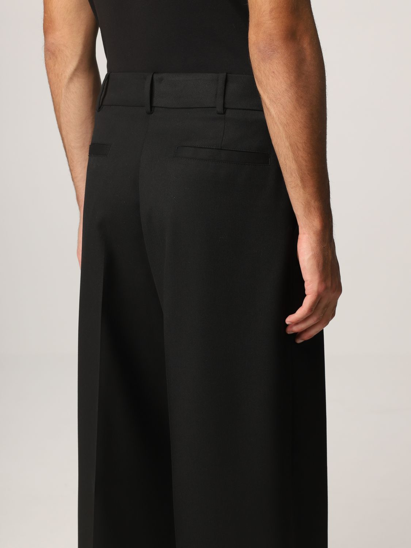 Pantalone Valentino: Pantalone Valentino in lana vergine e seta nero 5