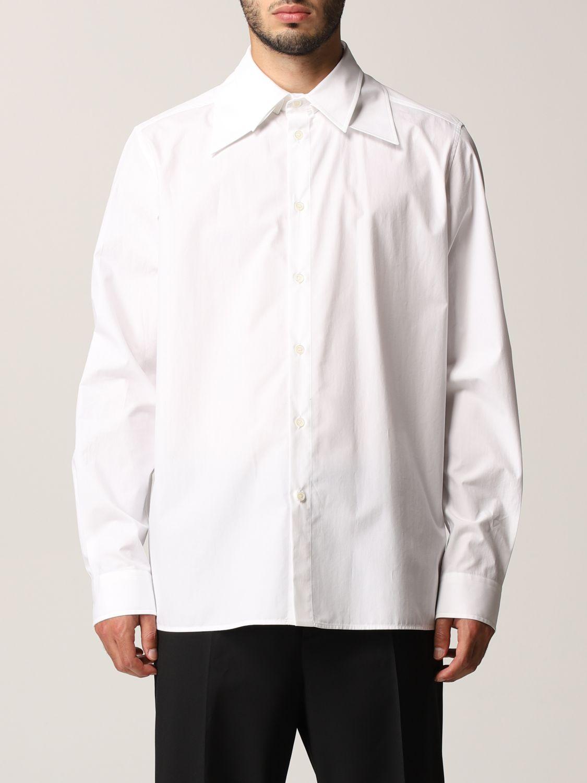Camicia Valentino: Camicia Valentino in popeline di cotone bianco 1