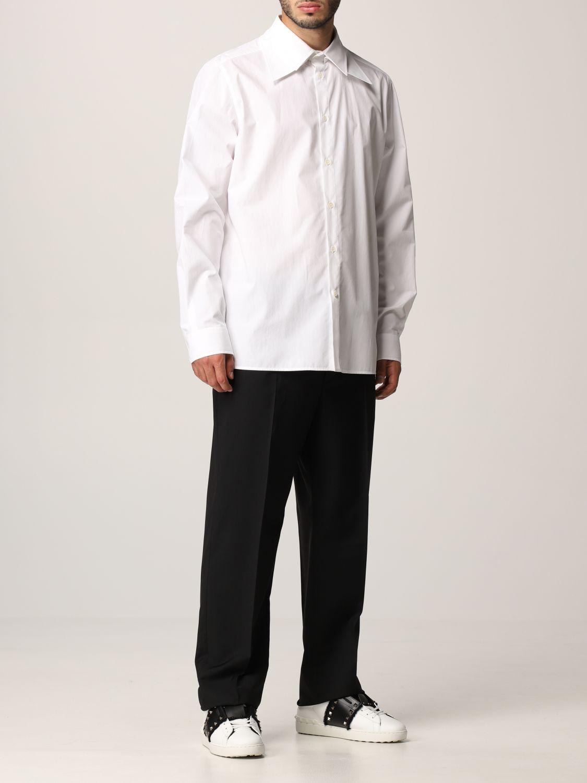 Camicia Valentino: Camicia Valentino in popeline di cotone bianco 2