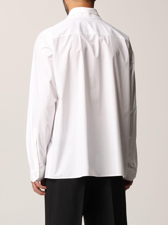 Camicia Valentino: Camicia Valentino in popeline di cotone bianco 3