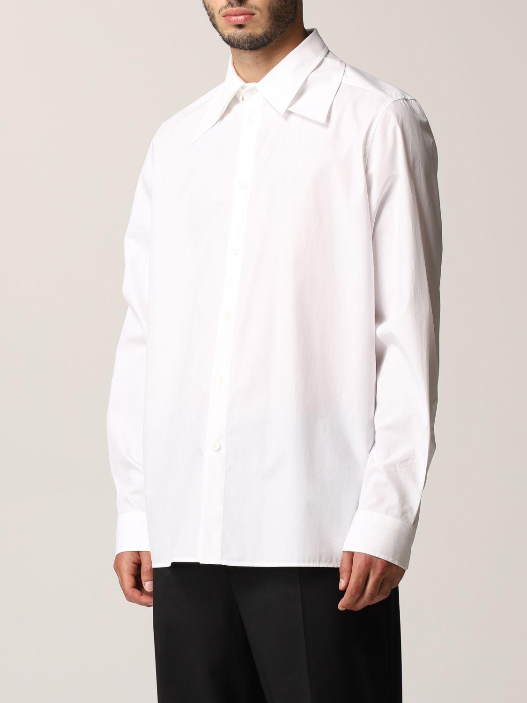 Camicia Valentino: Camicia Valentino in popeline di cotone bianco 4
