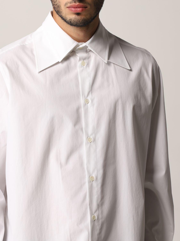 Camicia Valentino: Camicia Valentino in popeline di cotone bianco 5