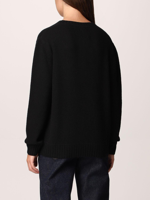 Maglia Prada: Maglione Prada in lana e cashmere con logo nero 3
