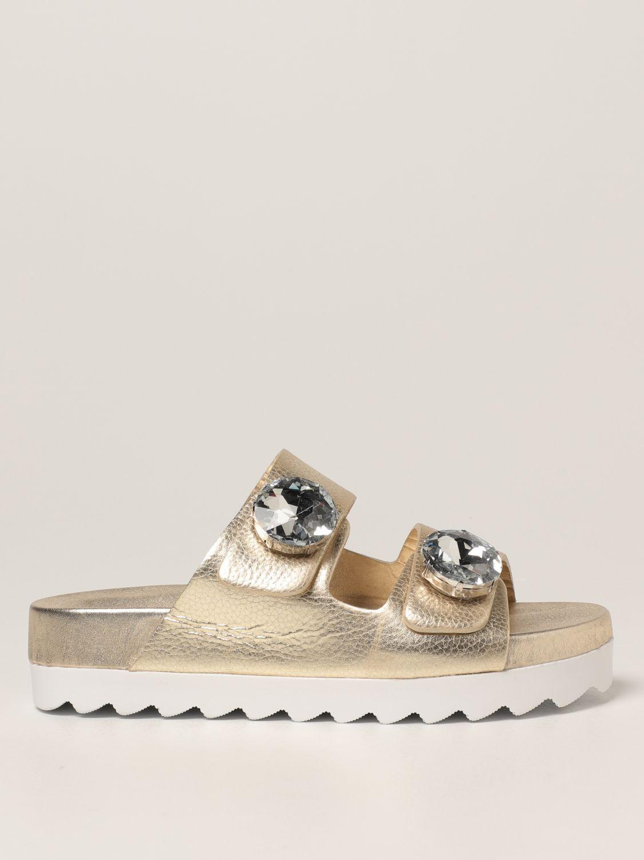 Sandalias planas Inspiration Concrete: Zapatos mujer Inspiration Concrete platino 1