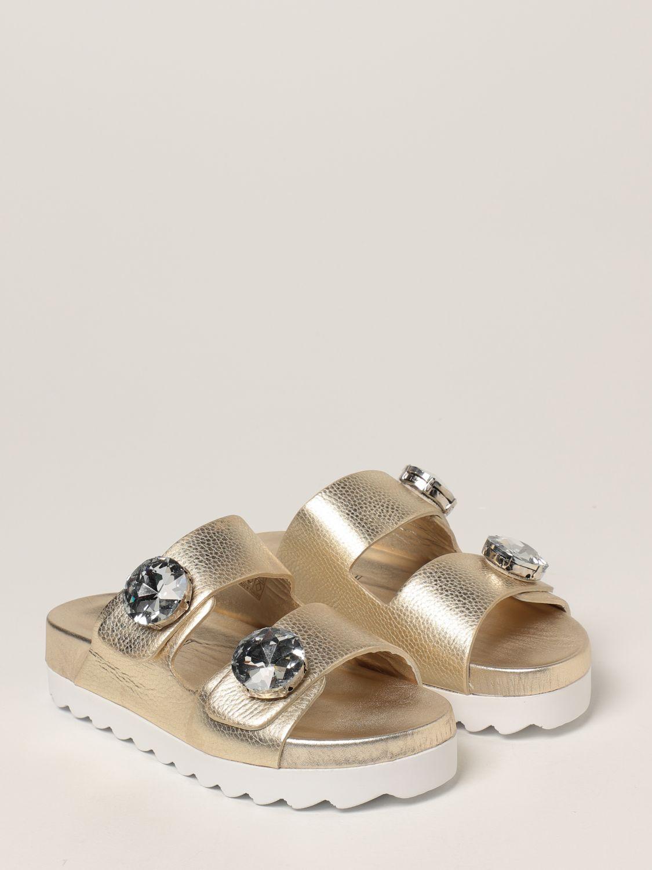 Sandalias planas Inspiration Concrete: Zapatos mujer Inspiration Concrete platino 2