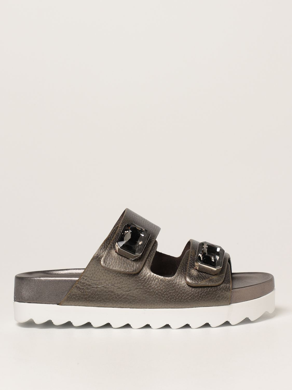 Sandalias planas Inspiration Concrete: Zapatos mujer Inspiration Concrete acero 1