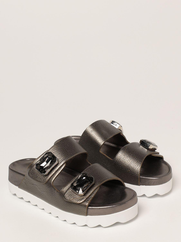 Sandalias planas Inspiration Concrete: Zapatos mujer Inspiration Concrete acero 2