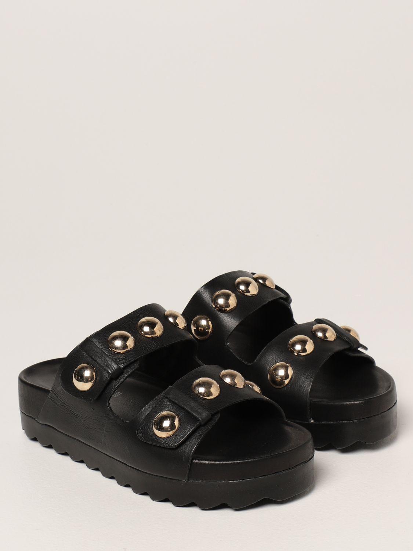 Sandalias planas Inspiration Concrete: Zapatos mujer Inspiration Concrete negro 2