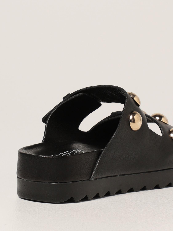 Sandalias planas Inspiration Concrete: Zapatos mujer Inspiration Concrete negro 3