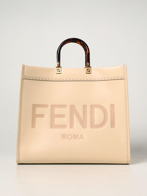 Handbag Fendi: Sunshine Fendi leather bag with logo leather 1