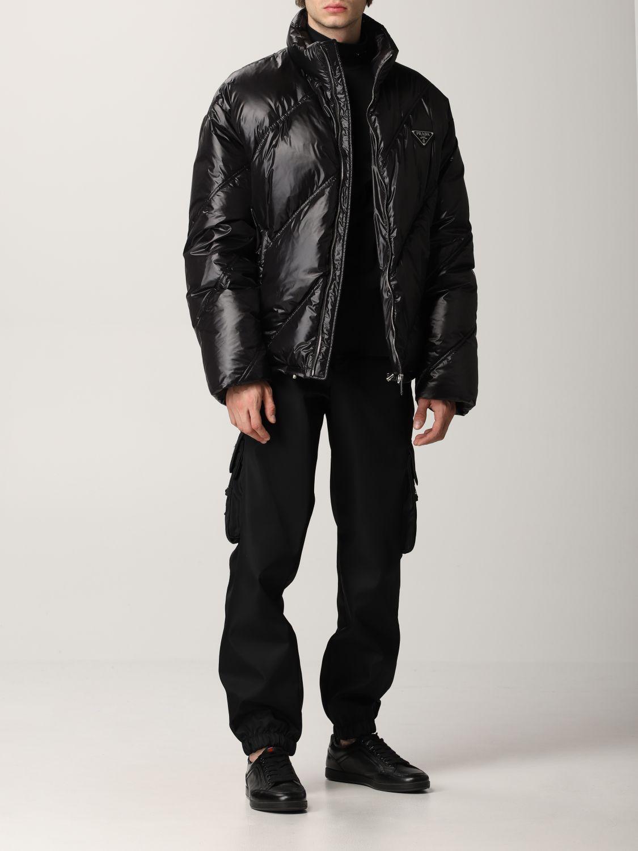 Giacca Prada: Piumino nylon lucido nero 2