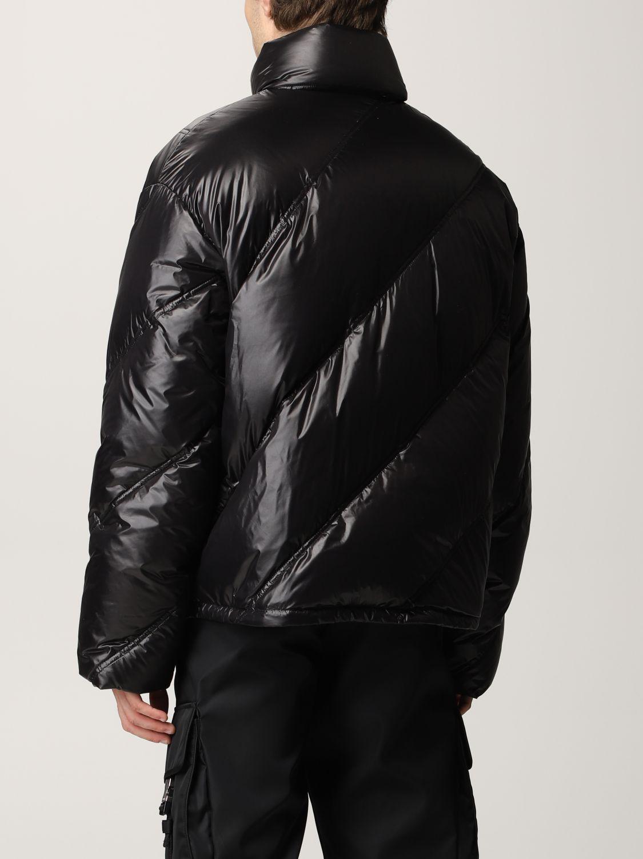 Giacca Prada: Piumino nylon lucido nero 3