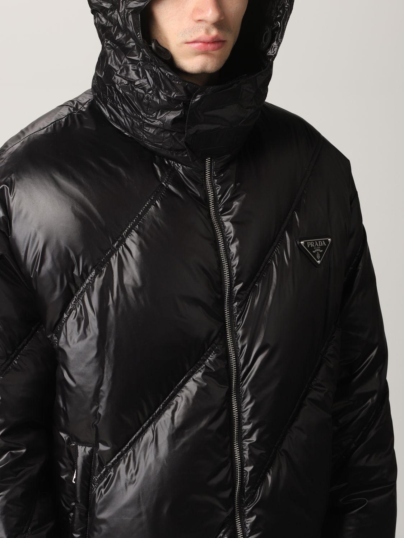 Giacca Prada: Piumino nylon lucido nero 5