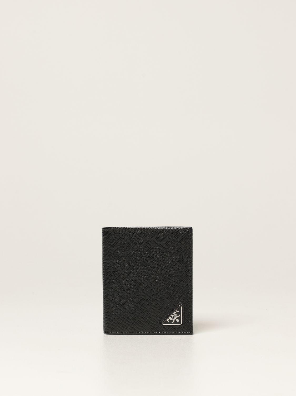 Portafoglio Prada: Portafoglio Prada in pelle saffiano nero 1
