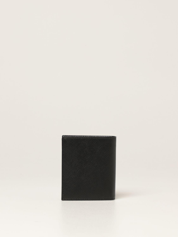 Portafoglio Prada: Portafoglio Prada in pelle saffiano nero 3