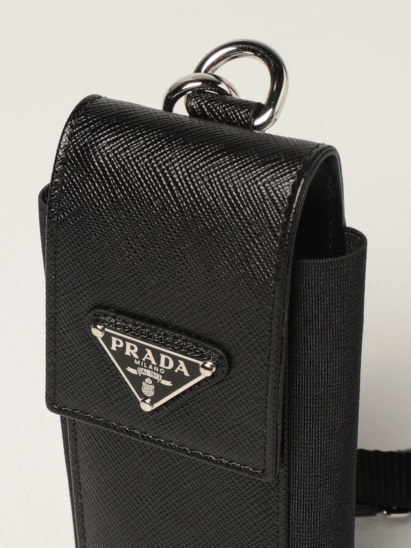 Cover Prada: Porta cellulare Prada in pelle saffiano nero 2