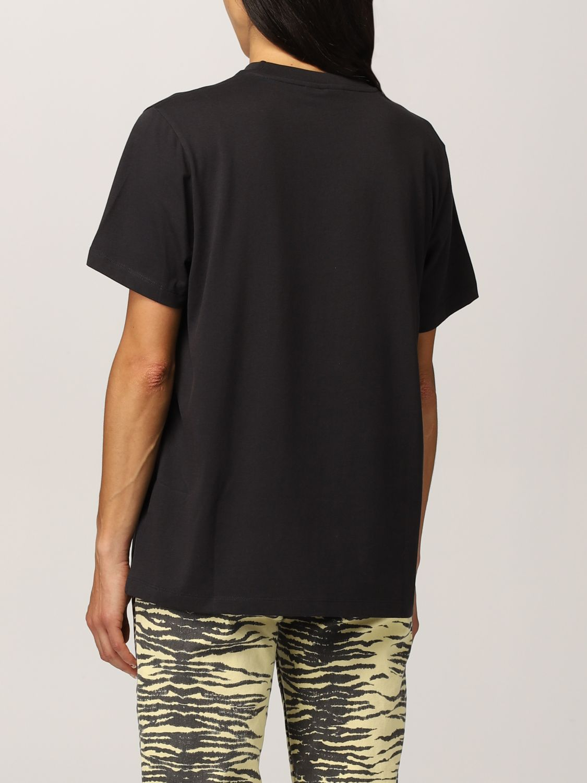 T-Shirt Ganni: Ganni cotton T-shirt with vase graphics black 3