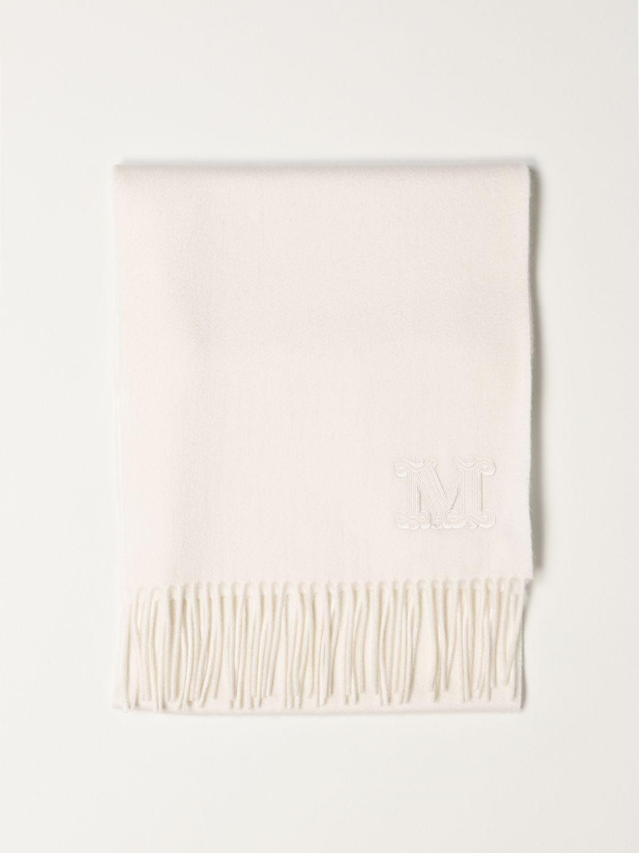Sciarpa Max Mara: Sciarpa Max Mara in cashmere bianco 1