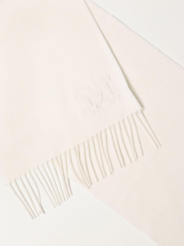 Sciarpa Max Mara: Sciarpa Max Mara in cashmere bianco 3