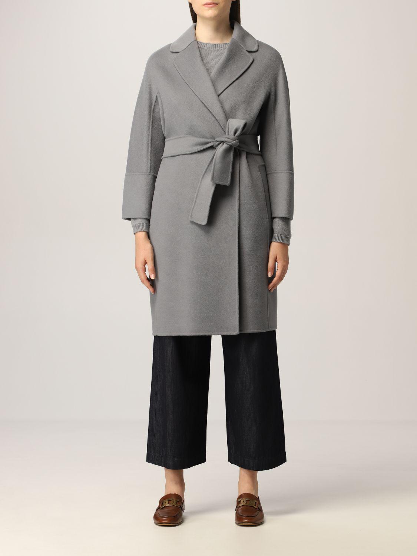 Cappotto S Max Mara: Cappotto a vestaglia S Max Mara in lana vergine polvere 1