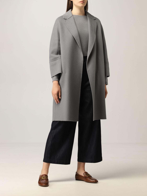 Cappotto S Max Mara: Cappotto a vestaglia S Max Mara in lana vergine polvere 2
