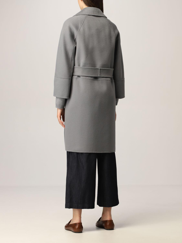 Cappotto S Max Mara: Cappotto a vestaglia S Max Mara in lana vergine polvere 3
