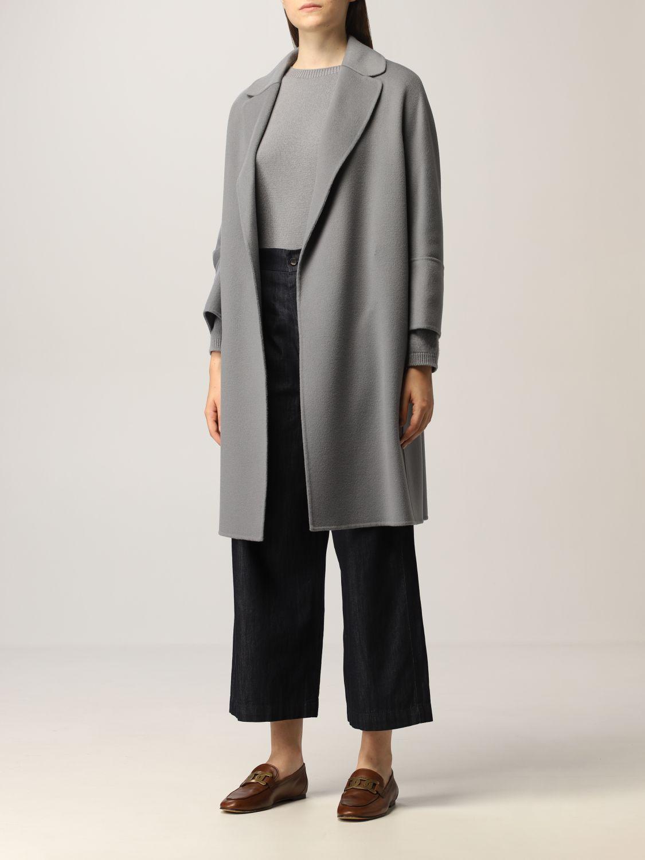 Cappotto S Max Mara: Cappotto a vestaglia S Max Mara in lana vergine polvere 4
