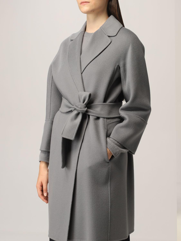 Cappotto S Max Mara: Cappotto a vestaglia S Max Mara in lana vergine polvere 5