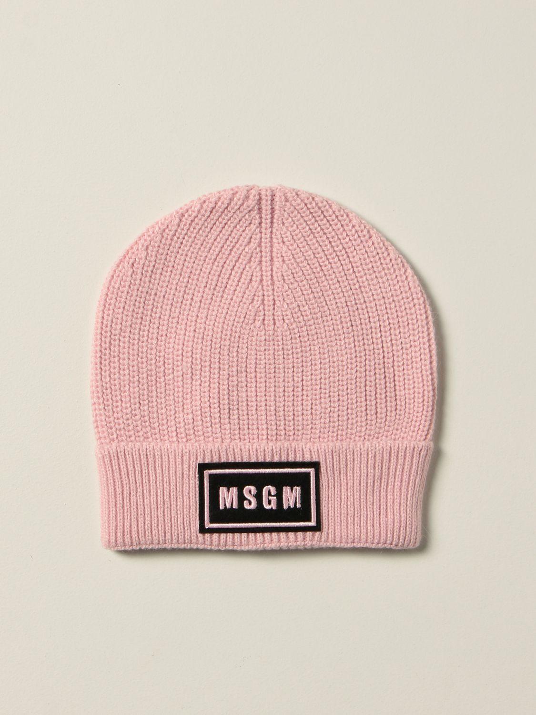 Hat girl Msgm Kids: Msgm Kids hat with logo pink 1