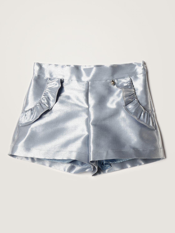 Short Simonetta: Simonetta shorts in metallic satin avion 1