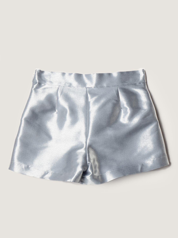 Short Simonetta: Simonetta shorts in metallic satin avion 2