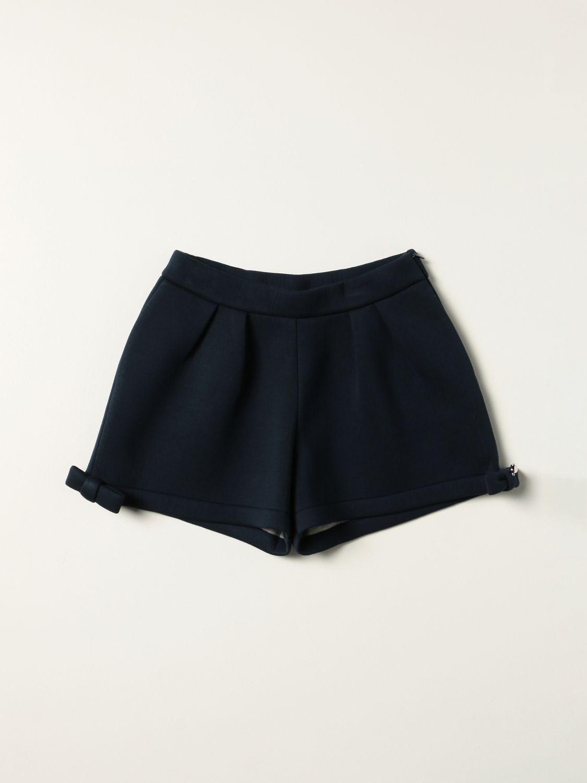 Short Simonetta: Simonetta shorts with bow blue 1
