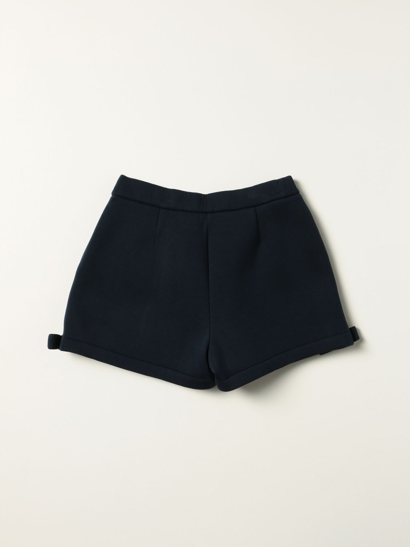 Short Simonetta: Simonetta shorts with bow blue 2