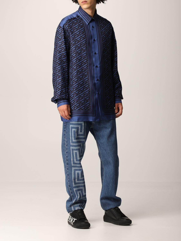 Camisa Versace: Camisa hombre Versace azul oscuro 2