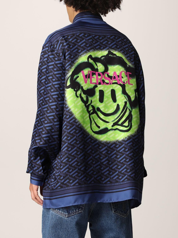 Camisa Versace: Camisa hombre Versace azul oscuro 3