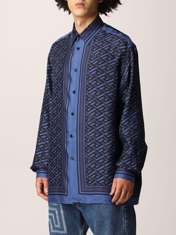 Camisa Versace: Camisa hombre Versace azul oscuro 4