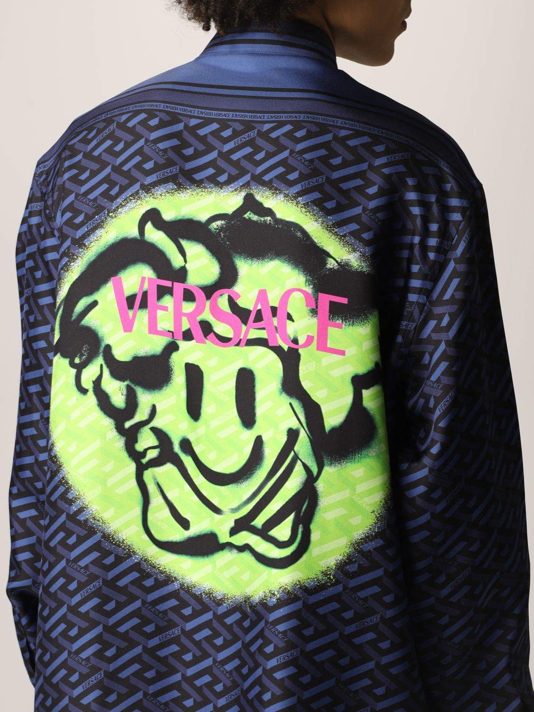 Camisa Versace: Camisa hombre Versace azul oscuro 5