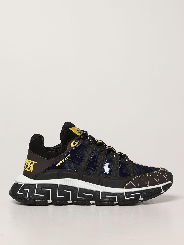 Sneakers Versace: Sneakers Trigreca Versace in nylon moro 1