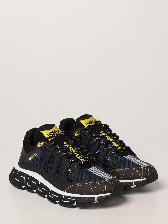 Sneakers Versace: Sneakers Trigreca Versace in nylon moro 2
