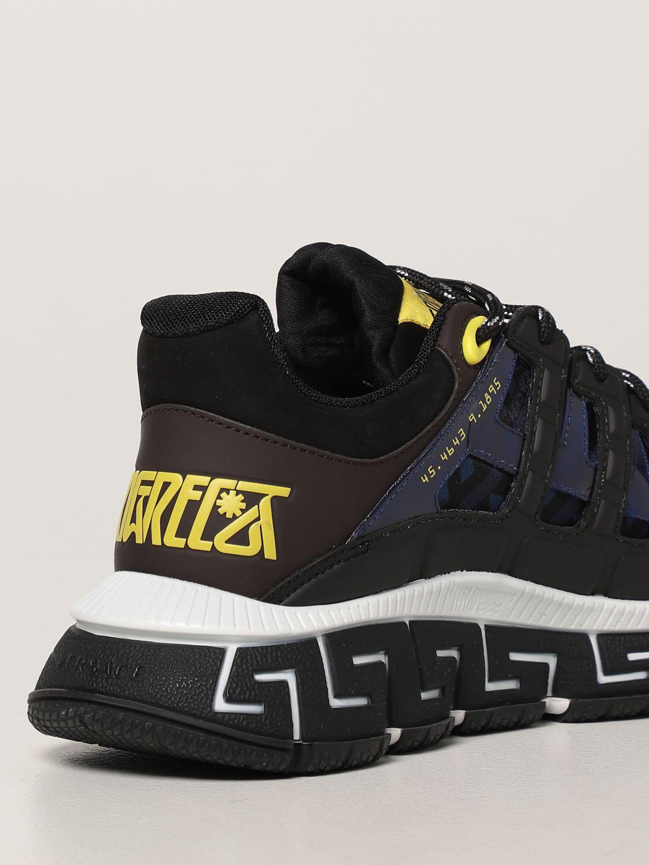 Sneakers Versace: Sneakers Trigreca Versace in nylon moro 3