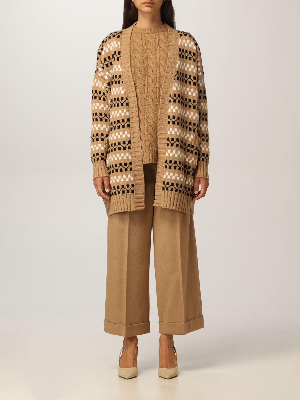 Cardigan Max Mara: Cardigan Max Mara in cashmere e lana cammello 1