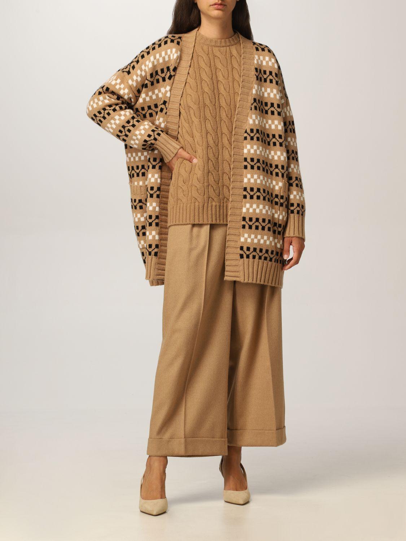 Cardigan Max Mara: Cardigan Max Mara in cashmere e lana cammello 2