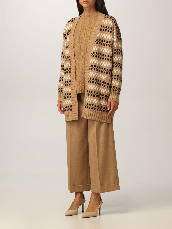 Cardigan Max Mara: Cardigan Max Mara in cashmere e lana cammello 4