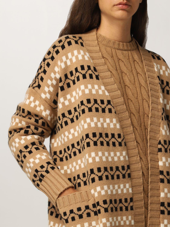 Cardigan Max Mara: Cardigan Max Mara in cashmere e lana cammello 5