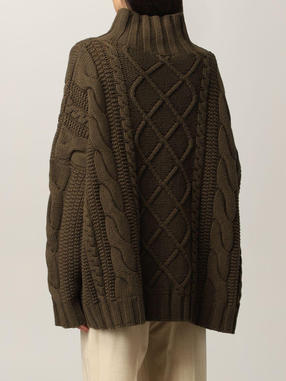 Maglia Max Mara: Maglia Max Mara a trecce in cashmere e lana verde 3