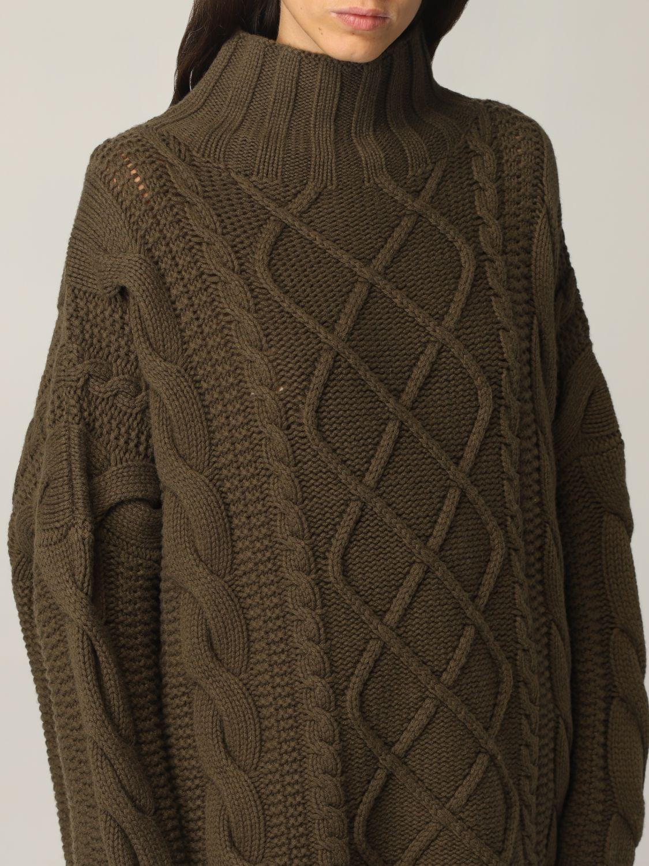 Maglia Max Mara: Maglia Max Mara a trecce in cashmere e lana verde 5